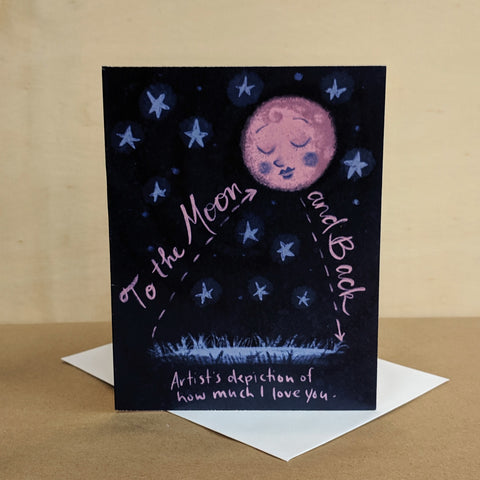 Meaghan Smith Creative - Greeting Card - I Love You To The Moon And Back