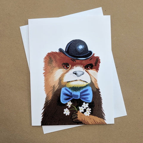 Meaghan Smith Creative - Greeting Card - Otter In A Bowler Hat