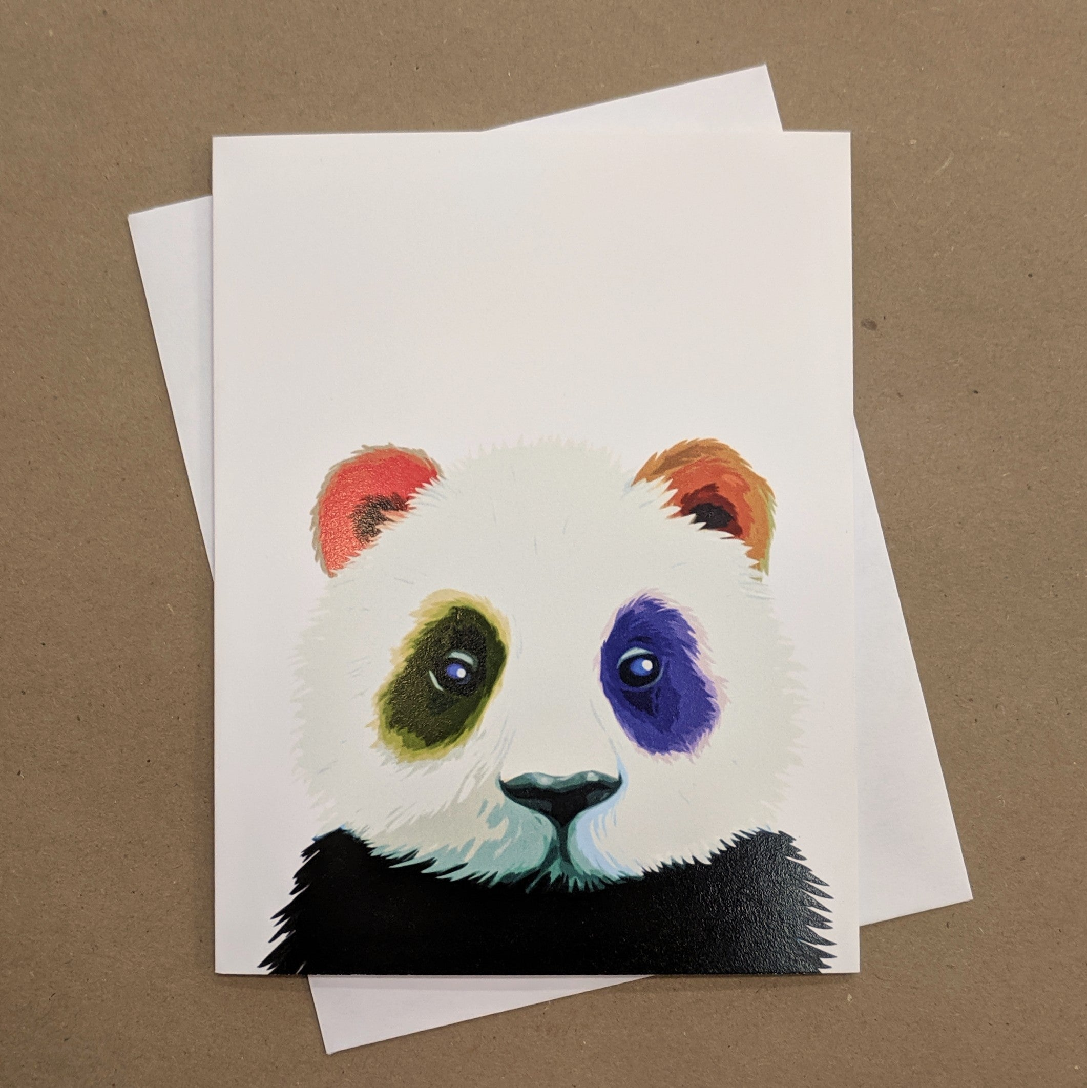 Meaghan Smith Creative - Greeting Card - Panda With Rainbow Spots