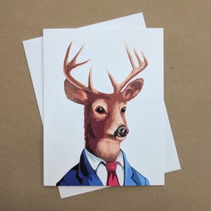 Meaghan Smith Creative - Greeting Card - Deer In A Suit