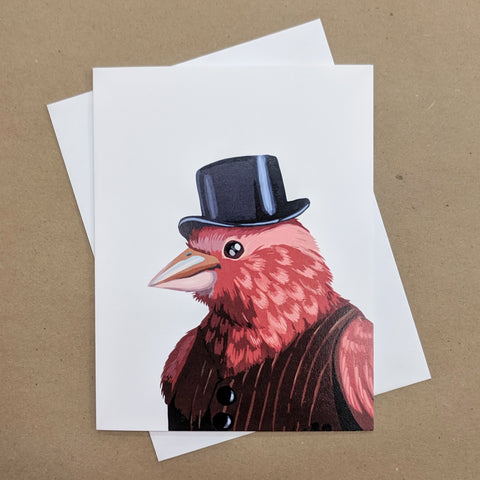 Meaghan Smith Creative - Greeting Card - Bird In A Top Hat