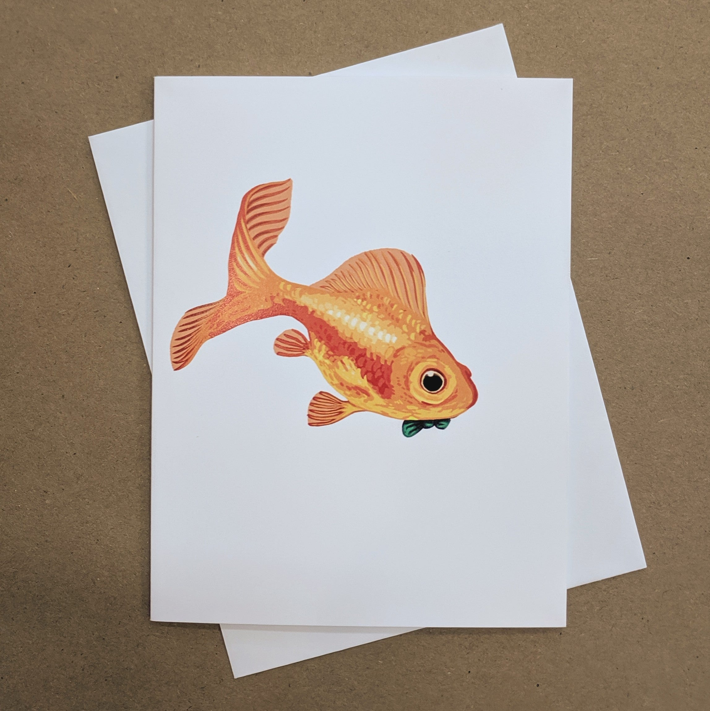 Meaghan Smith Creative - Greeting Card - Goldfish With A Bowtie