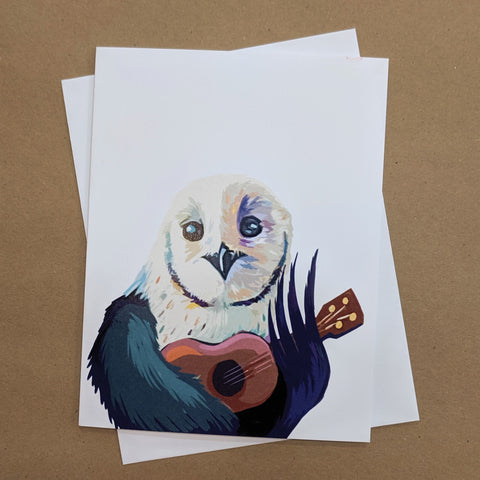 Meaghan Smith Creative - Greeting Card - Owl With A Ukulele