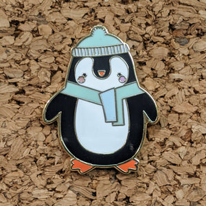 Paper Hearts - Enamel Pin - Chilly Penguin