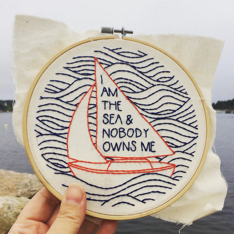 Hook, Line & Tinker - Embroidery Kit - I Am The Sea