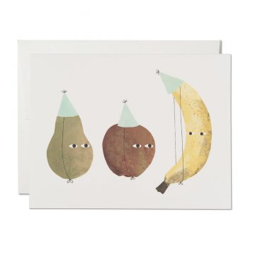 Red Cap Cards - Greeting Card - Fruit Birthday Hats