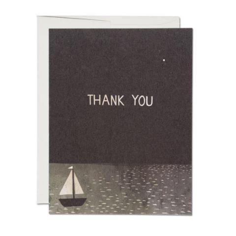 Red Cap Cards - Boxed Notes - Thank You - Sail Boat
