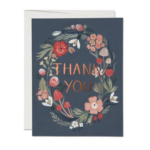 Red Cap Cards - Boxed Note Set - Thank You - Blue Forest