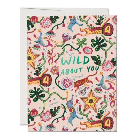 Red Cap Cards - Greeting Card - Wild About You - Jungle Tapestry
