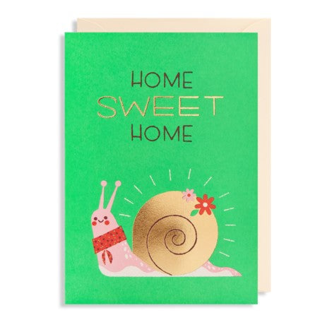 Lagom - Greeting Card - Home Sweet Home - Snail