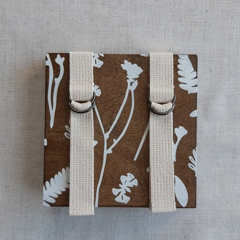 Oake Living - Flower Press Book - Large - Walnut - Floral