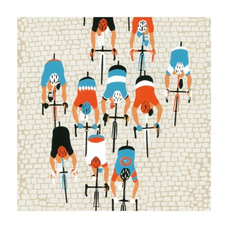 Museums & Galleries - Greeting Card - Paris-Roubais - Cyclists