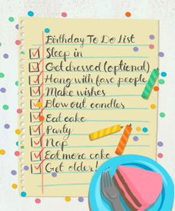 Meaghan Smith Creative - Greeting Card - Birthday To Do List