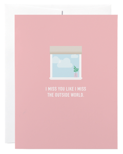 Classy Cards - Greeting Card - Outside World