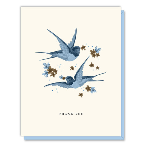 Driscoll Design - Boxed Notes - Thank You - Bluebirds
