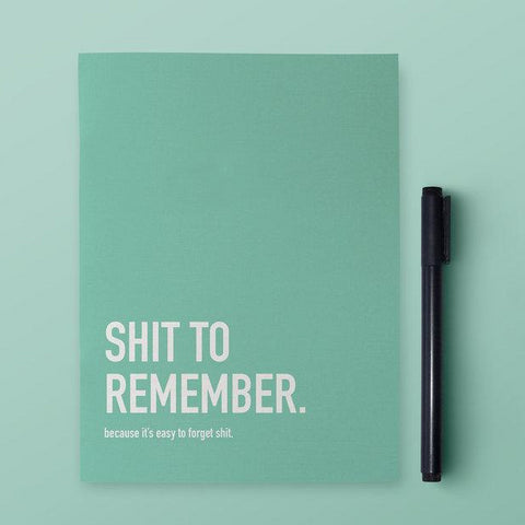 Classy Cards - Notebook - Shit To Remember