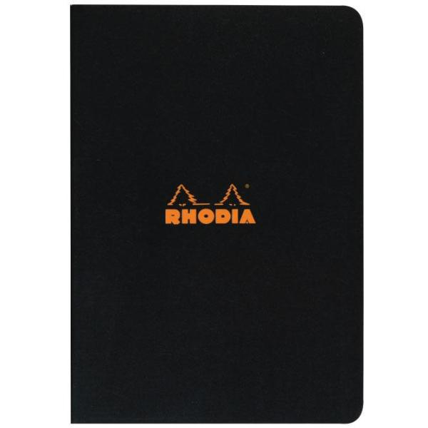 Rhodia - Notebook - Stapled - A4 - Black