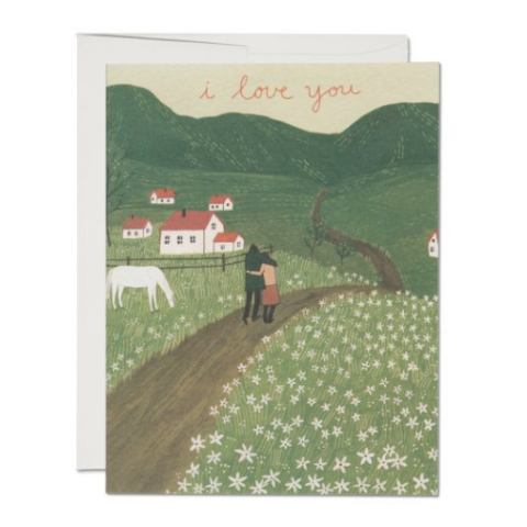 Red Cap Cards - Greeting Card - I Love You - Pastrures