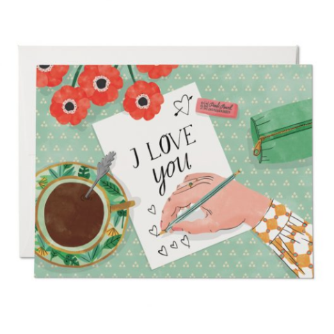 Red Cap Cards - Greeting Card - I Love You - Letter Writing