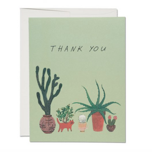 Red Cap Cards - Greeting Card - Cactus Thank You