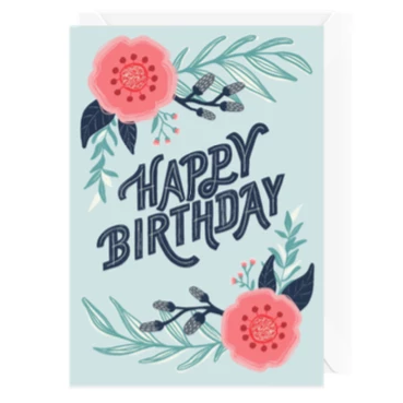 Hello Sweetie Design - Greeting Card - Happy Birthday - Modern Floral