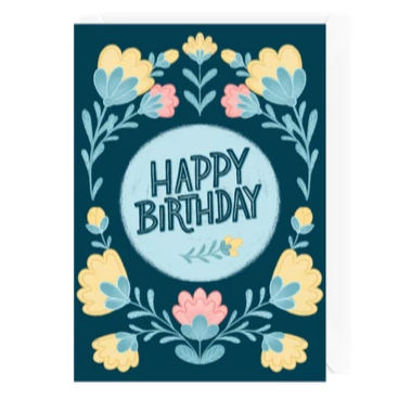 Hello Sweetie Design - Greeting Card - Happy Birthday - Floral