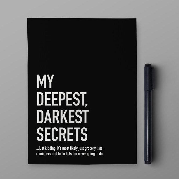 Classy Cards Notebook - My Deepest, Darkest Secrets