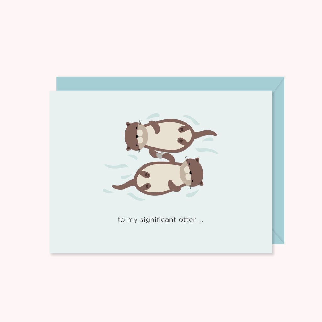 Paper Hearts - Greeting Card - Significant Otter