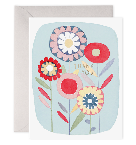 E Frances - Boxed Notes - Thank You - Folk Floral