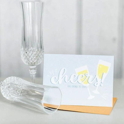 Paper Hearts - Greeting Card - Cheers! - I'll Drink To That