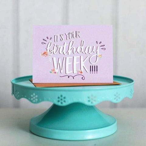 Paper Hearts - Greeting Card - It's Your Birthday Week!