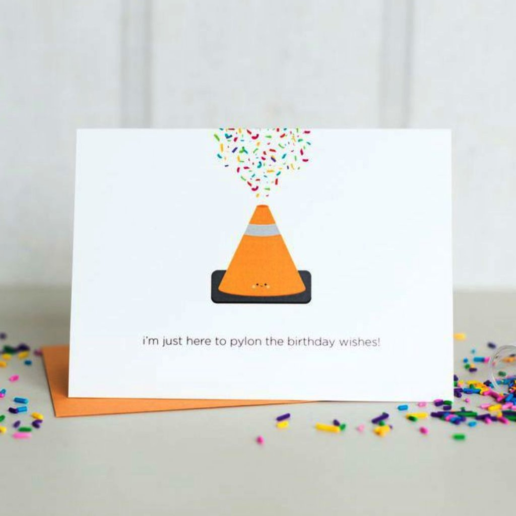 Paper Hearts - Greeting Card - Pylon The Birthday Wishes