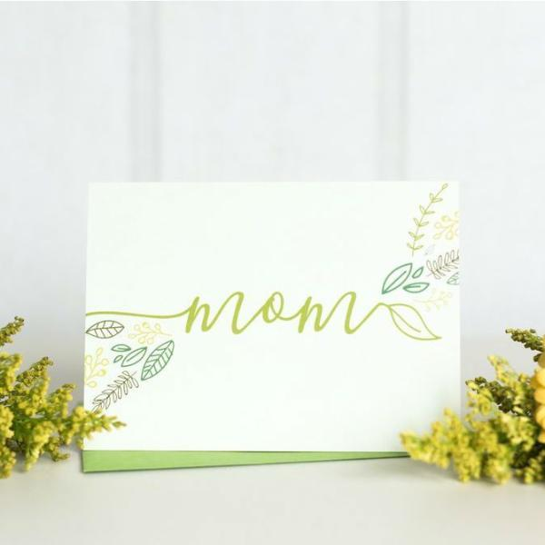 Paper Hearts - Greeting Card - Mom