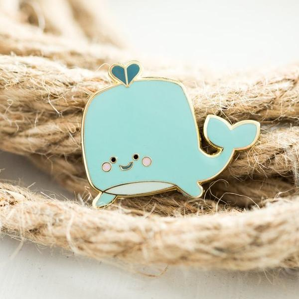 Paper Hearts - Enamel Pin - Little Whale