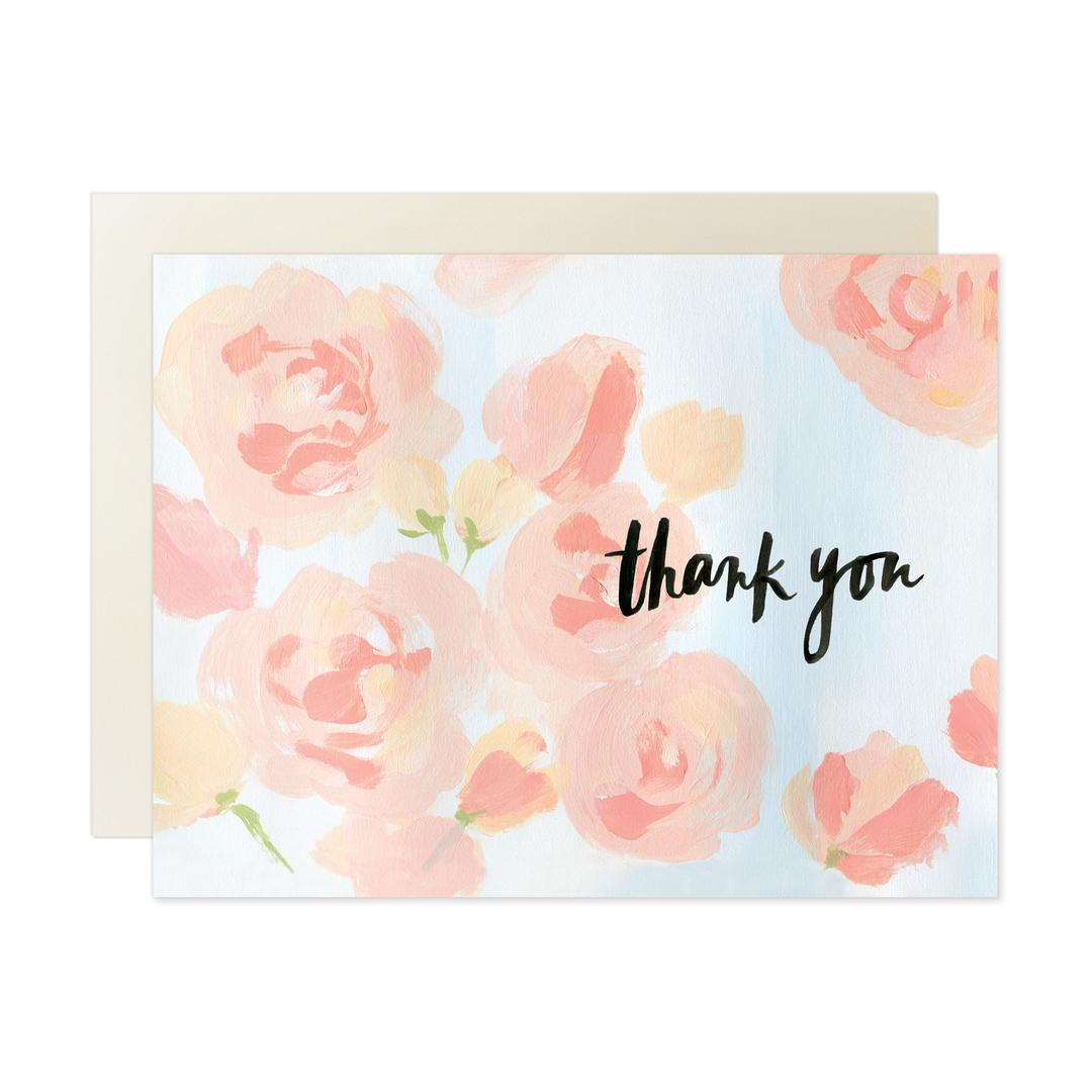 Our Heiday - Greeting Card - Thank You - Roses