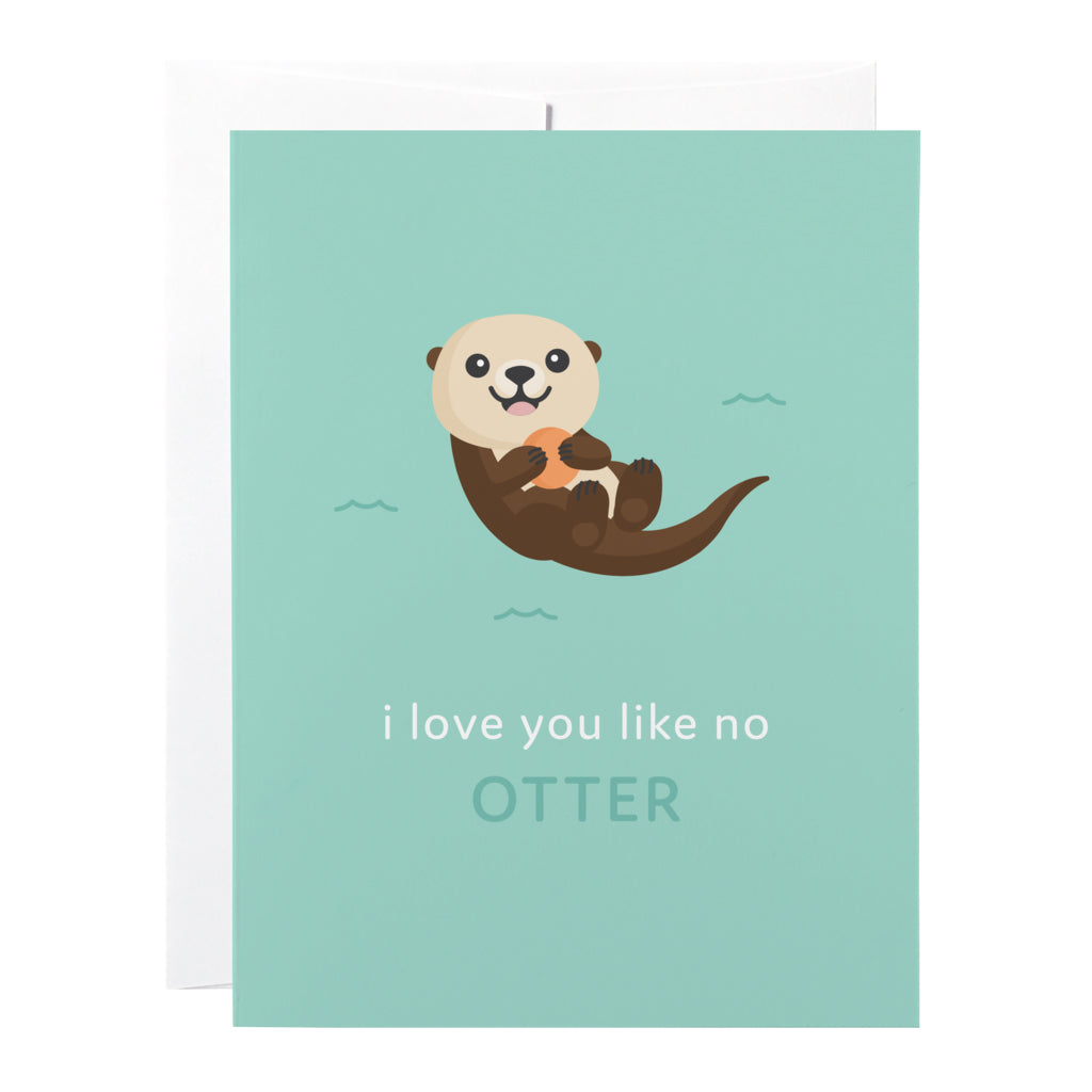 Classy Cards - Greeting Card - Otter