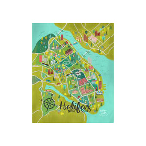 Meaghan Smith Creative - Art Print - Halifax Map