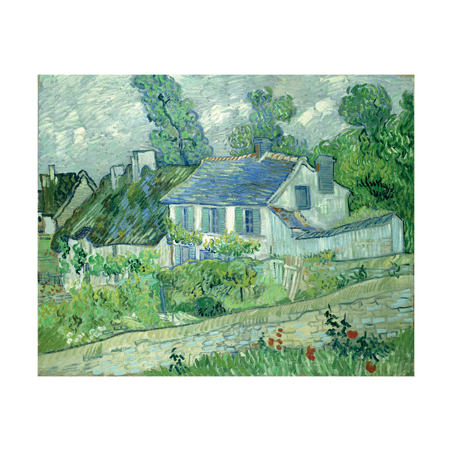 Pomegranate - Greeting Card - Houses at Auvers