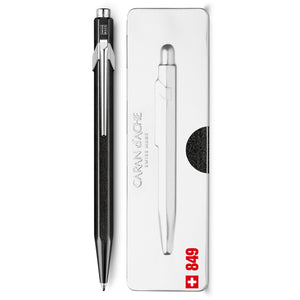 Caran d'Ache - Pop Metallic Black 849 Ballpoint Pen