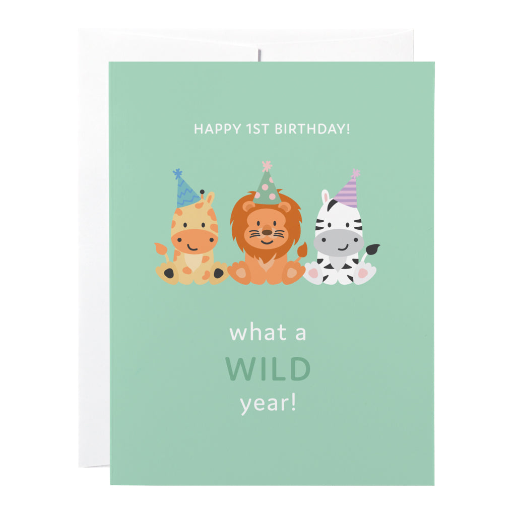 Classy Cards - Greeting Card - 1st Wild Year
