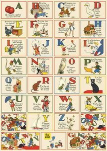 Cavallini & Co. Wrapping Sheet - Nursery Alphabet
