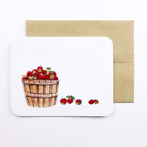 Field Day Paper - Greeting Card - Apple Basket