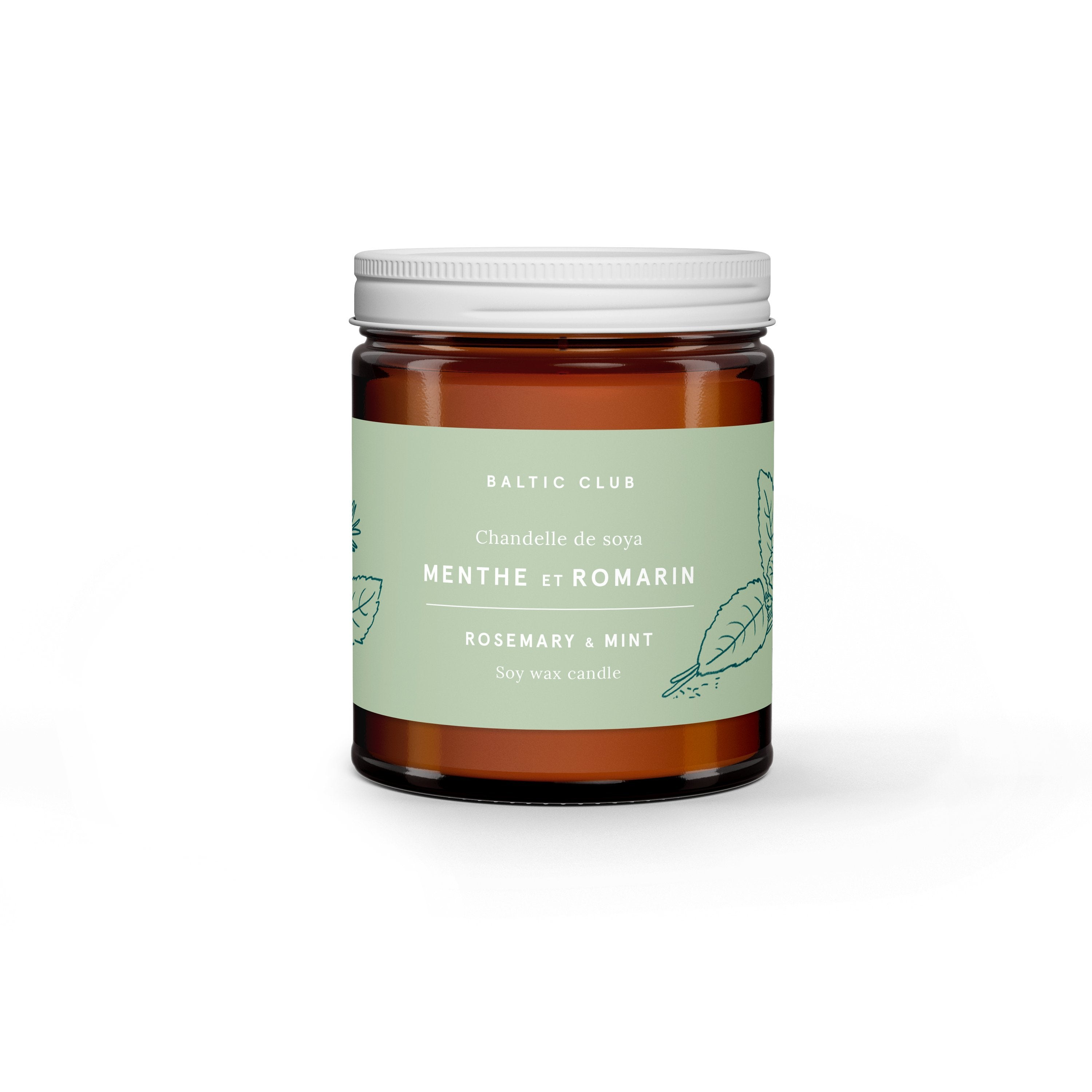 Soy Candle - Rosemary & Mint