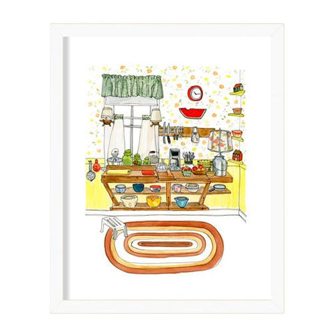 "Kat Frick Miller - Art Print - ""Sue's Kitchen"""