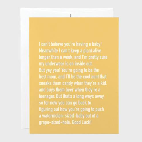 Classy Cards - Greeting Card - Baby Shower Chatty Cathy