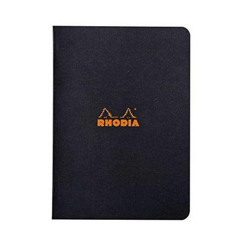 Rhodia - Notebook - Stapled - A5 - Black