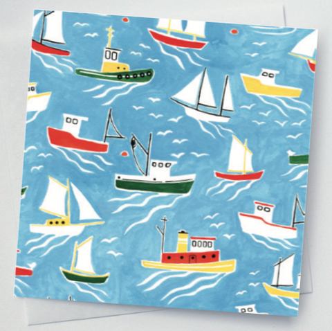 Kat Frick Miller - Greeting Card - Little Boats