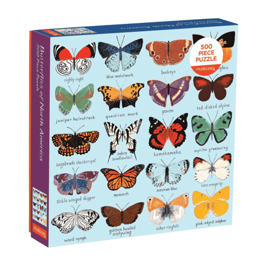 Mudpuppy Butterflies of North America 500 Piece Puzzle