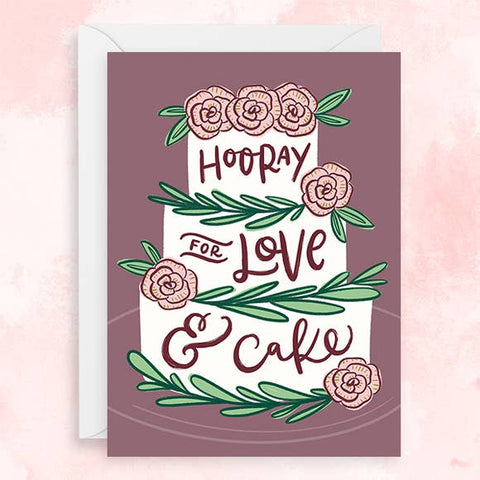 Hoopla Letters - Greeting Card - Hooray For Love & Cake