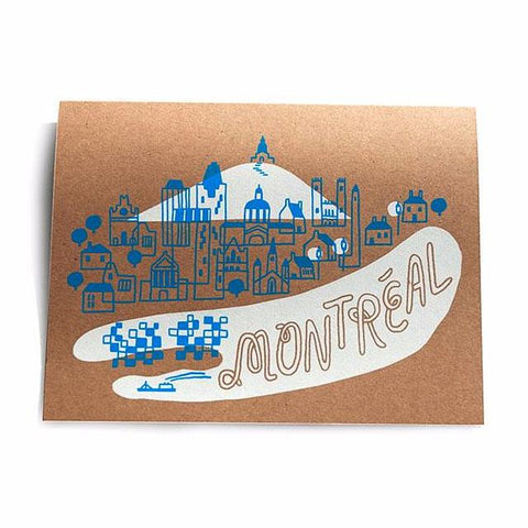 Forest + Waves - Greeting Card - Montreal